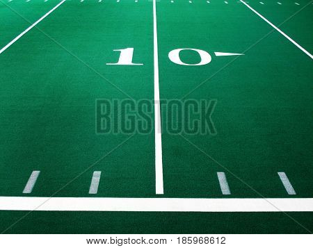 Football field for sports and achievement