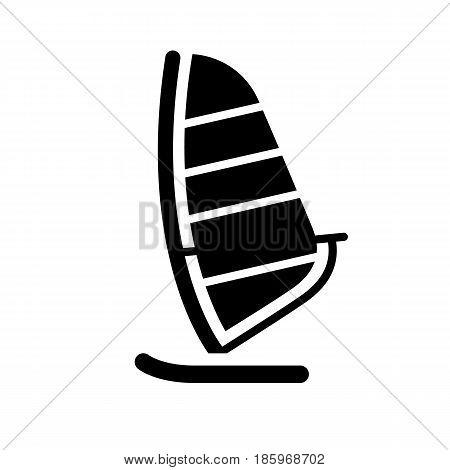 yacht icon isolated on white background flat style.