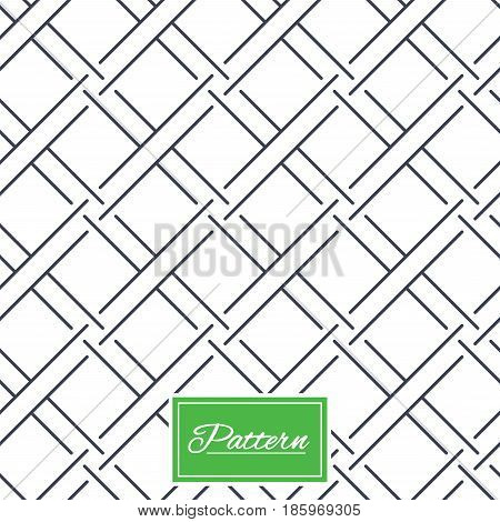Braided grid texture. Stripped geometric seamless pattern. Modern repeating stylish texture. Abstract minimal pattern background. Vector