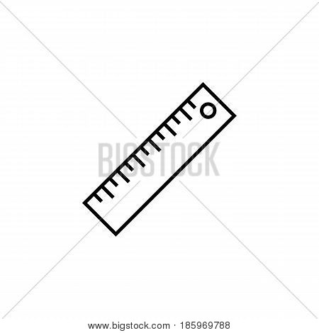 Ruler line icon, Education and school element, Straightedge vector graphics, a linear pattern on a white background, eps 10.