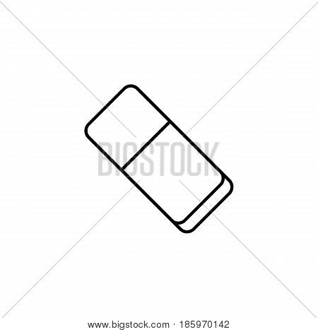 Eraser line icon, school and education element, rubber vector graphics, a linear pattern on a white background, eps 10.