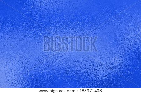 Blue silver metallic foil paper texture decor background. Metallized paper