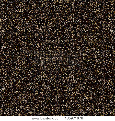 Halftone Effect. Seamless Pattern. Abstract Vector Background. Monochrome, Golden, Yellow, Black. Dust, Sand, Glitter, Polygonal