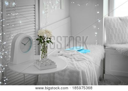 Comfortable place for rest near window