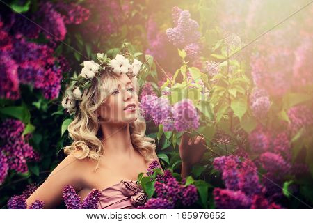 Carefree Woman Outdoors. Health and Beauty Concept