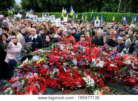 The Immortal Regiment March In Kiev
