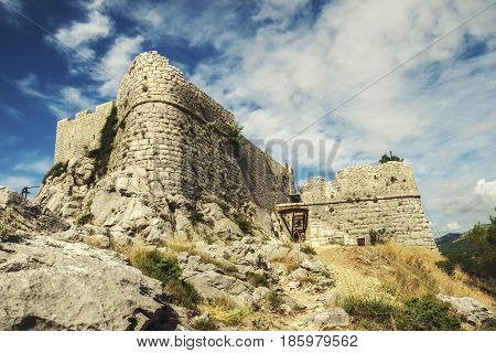 Stari Grad - Fortica - the ruins of pirate fortress above the town of Omis
