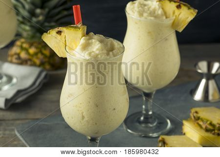 Homemade Frozen Pina Colada Cocktail