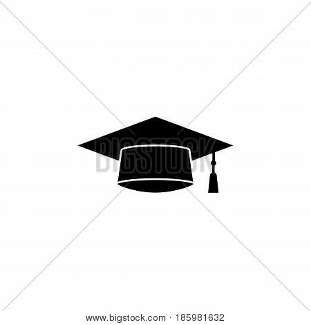 Graduation cap solid icon, education and high school element, academy hat vector graphics, a filled pattern on a white background, eps 10.