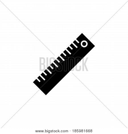 Ruler solid icon, Education and school element, Straightedge vector graphics, a filled pattern on a white background, eps 10.