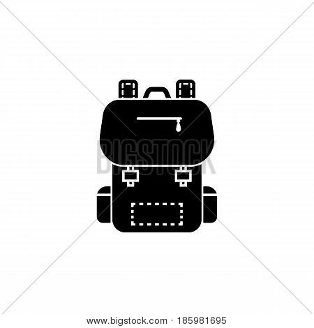 Backpack solid icon, Education and school element, school bag vector graphics, a filled pattern on a white background, eps 10.