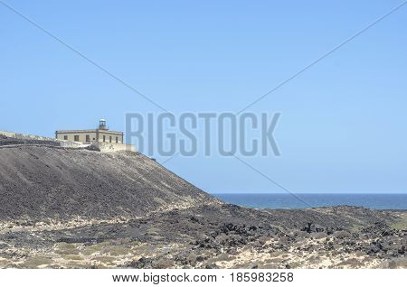 Lighthouse In Lobos Island In Canary Islands, Spain