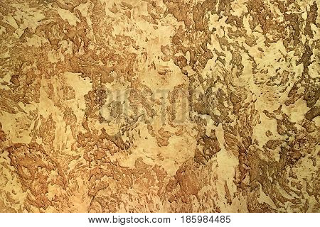 yellow relief textured clay for interior surface decorating