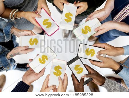 Illustration of power button beginning startup