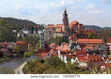 City view of Cesky Krumlov , Czech Republic