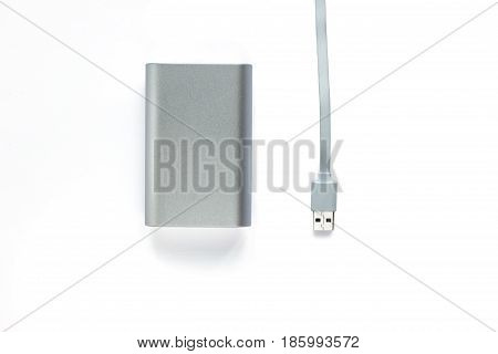 Portable External Battery ( Power Bank ) With Usb Cable