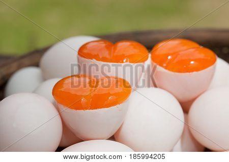 Egg yolks Covered Eggs (Khai Krob) from Songkhla the Southern of Thailand
