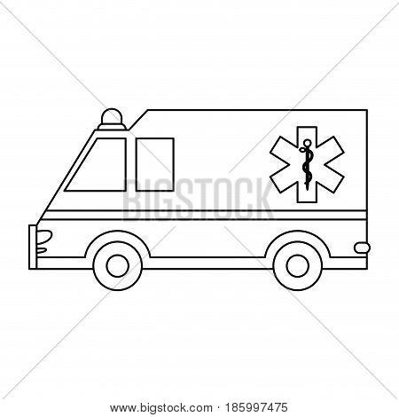 ambulance healthcare icon image vector illustration design single black line