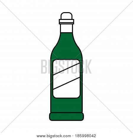 wine bottle icon image vector illustration design partially colored