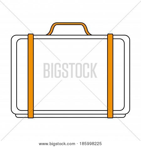 business briefcase icon image vector illustration design partially colored