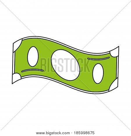 cash money bills icon image vector illustration design partially colored