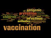 Concept or conceptual children vaccination viral prevention abstract word cloud isolated background. Collage of infectious antigenic, antibodies, epidemiology immunization or inoculation text poster
