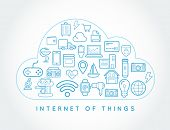 Cloud IOT Internet of Things Smart Home Vector Quality Design with Icons poster