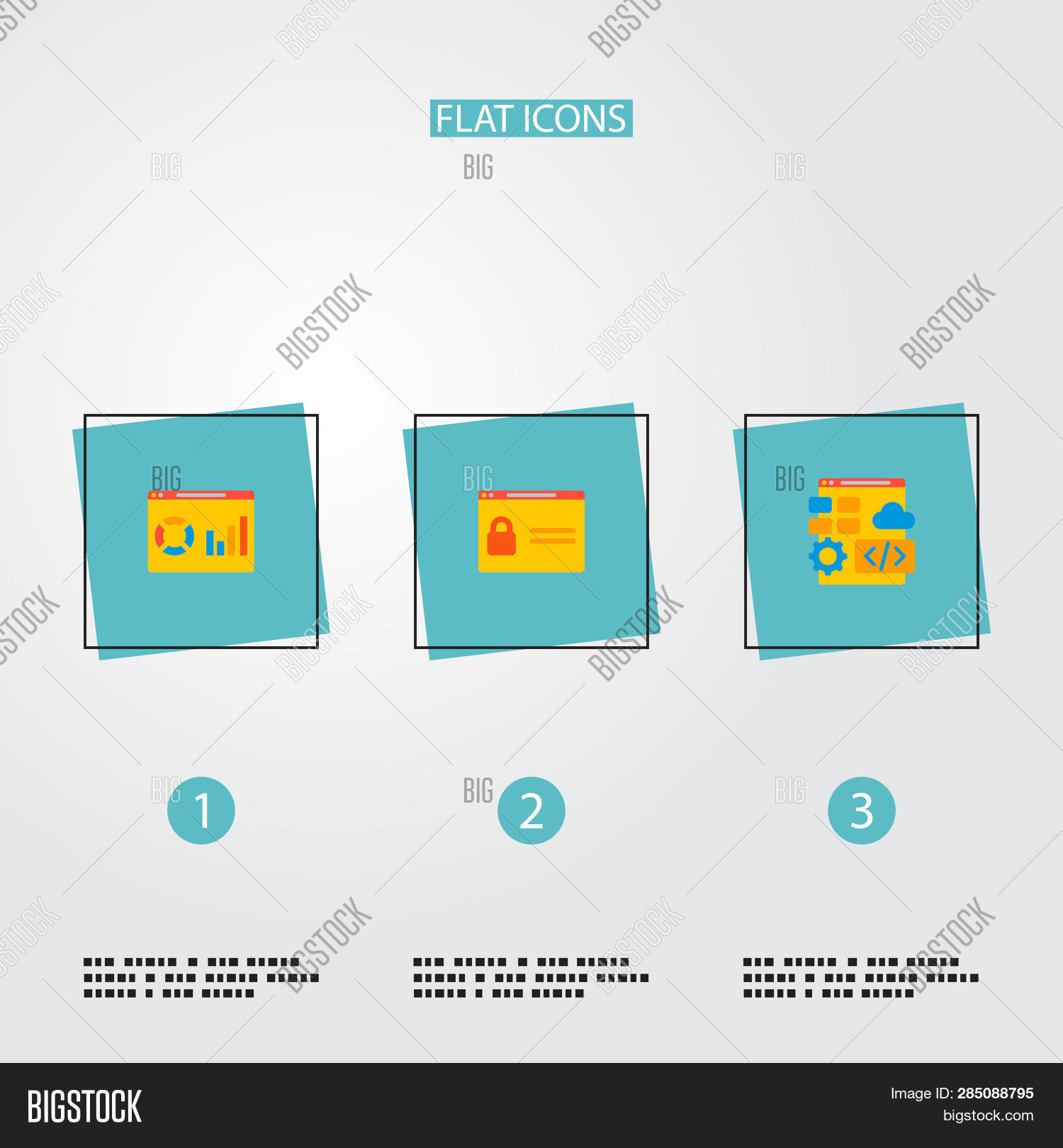Set Wd Icons Flat Image & Photo (Free Trial) | Bigstock