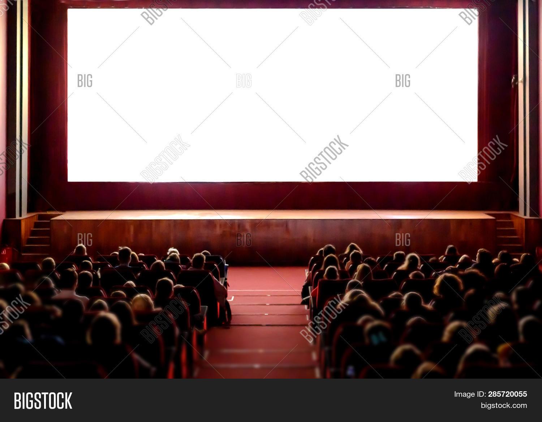 Cinema Empty Screen Image Photo Free Trial Bigstock