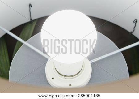 E26 Base Led Bulb Installed In A Floor Stand Lighting