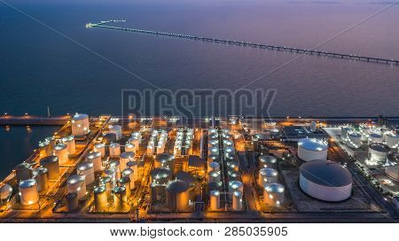 Oil And Gas Terminal Is Industrial Facility For Storage Of Oil, Gas And Petrochemical Products, Aeri