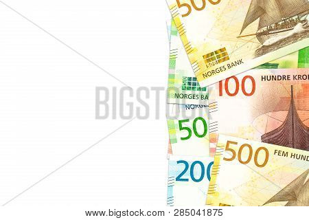 Some New Norwegian Krone Bank Notes With Copy Space