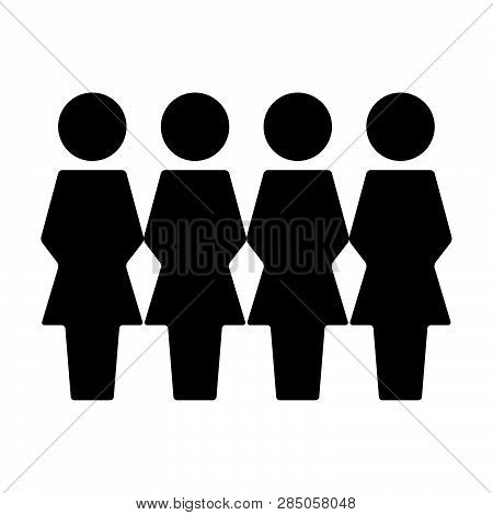 Persons Icon Vector Female Group Of People Symbol Avatar For Business Management People In Flat Colo