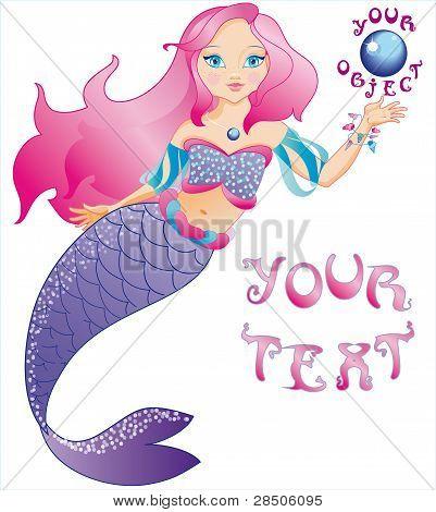 The small beautiful mermaid