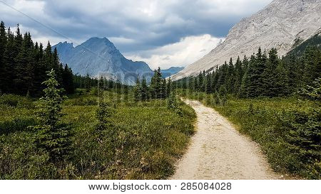 Rocky Mountain Views In The Wilderness Of Alberta Canada