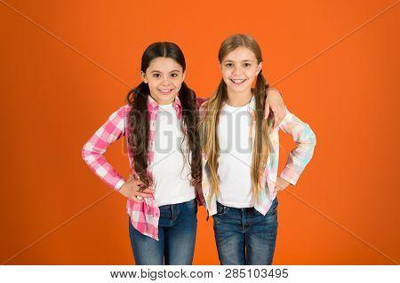 Long Hair Feminine Attribute. Girls Usually Let Their Hair Grow Long. Healthy And Shiny Hair. Kid Cu