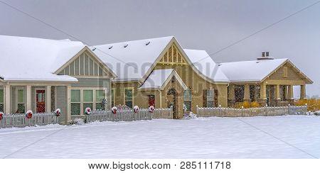 Festive Homes In Daybreak Utah In Winter