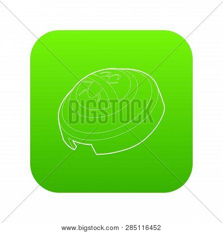Fumigator Icon Green Vector Isolated On White Background