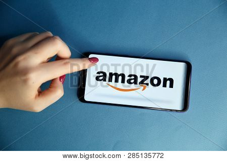 Tula, Russia - January 29, 2019: Showing Amazon Apps. Amazon.com, Inc. Is An American International
