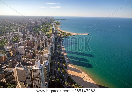 View Of Downtown Chicago From Above
