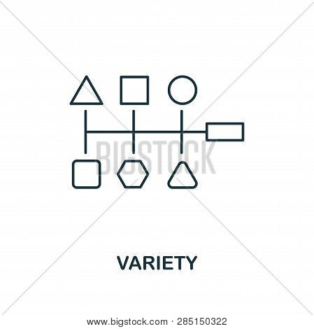 Variety Outline Icon. Thin Line Style From Big Data Icons Collection. Pixel Perfect Simple Element V