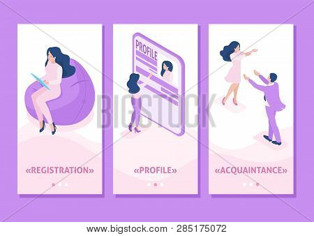 Isometric Template App Isometric Template App Acquaintance, Love, Meeting, People Connect Parts Of A