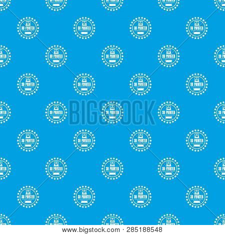Prototype 3d Printing Pattern Vector Seamless Blue Repeat For Any Use