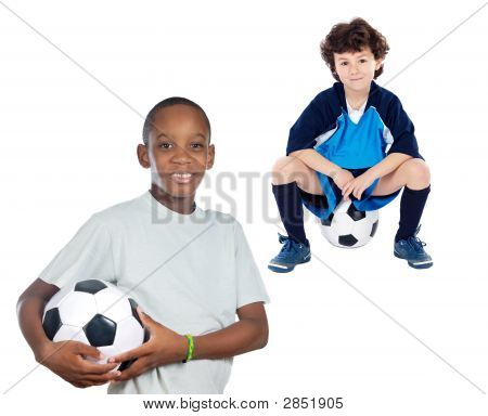 Children With Soccer Ball