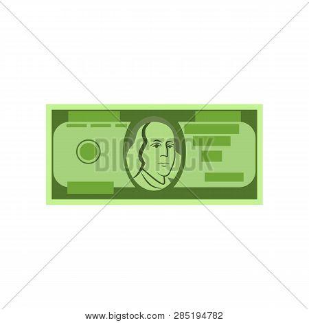 Single Dollar Banknote Vector. Money Bill, Paper Currency, Cash. Money Concept. Vector Illustration