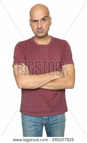 Man With Unsure Expression On His Face