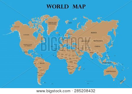 World Map Countries Vector & Photo (Free Trial) | Bigstock