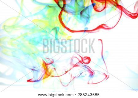 Flowing Abstract Colors In Water, Unique Colorful Shapes For Backgrounds