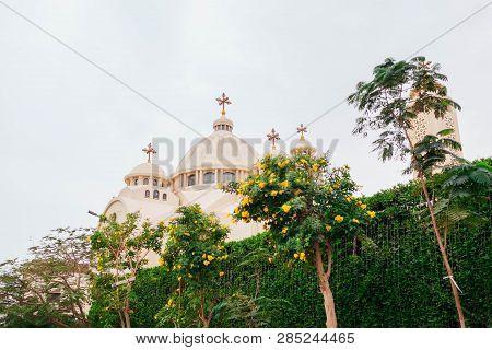 Christian Orthodox Coptic Church In Sharm El-sheikh, Egypt. Exterior