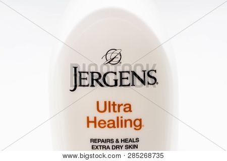 Jergens Hand Lotion Container And Trademark Logo